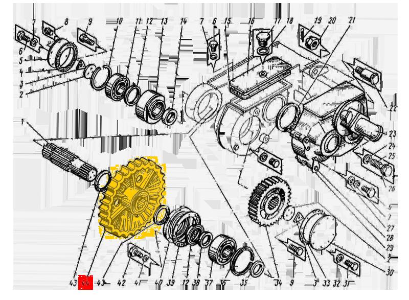 Колесо ведущее ЭО-5123.01.02.035