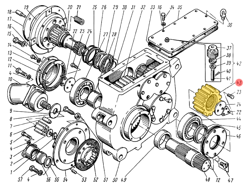 Шестерня ЭО-5122.01.17.003