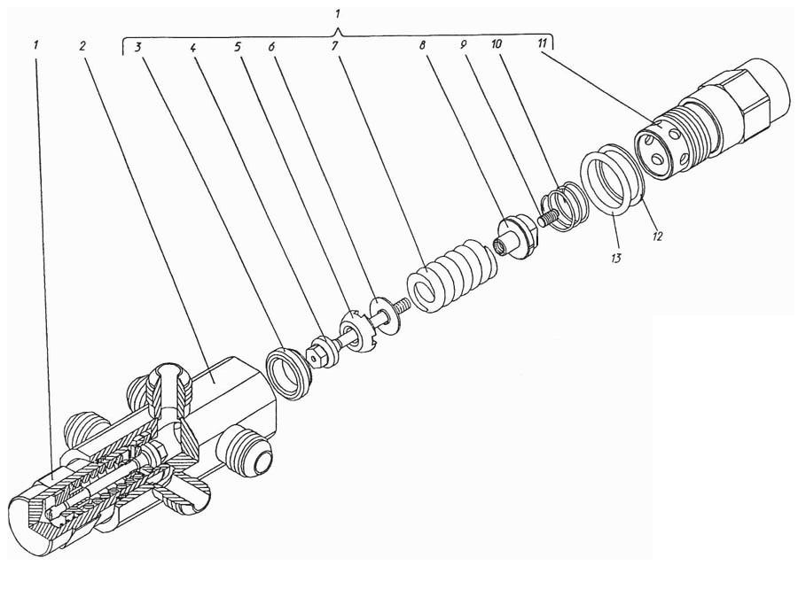 Блок клапанов П1.11.03.004сб