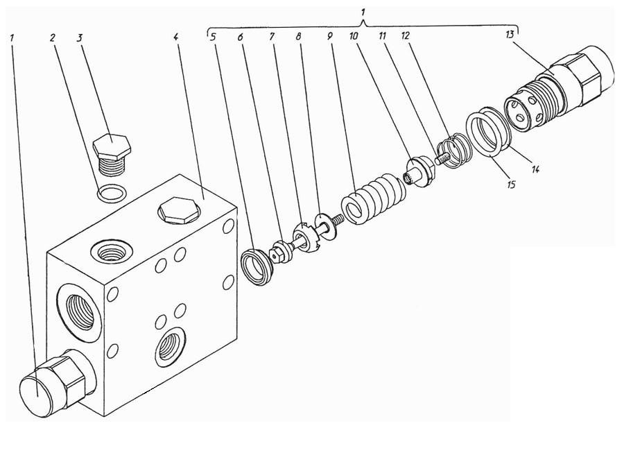 Блок клапанов П1.11.03.005сб