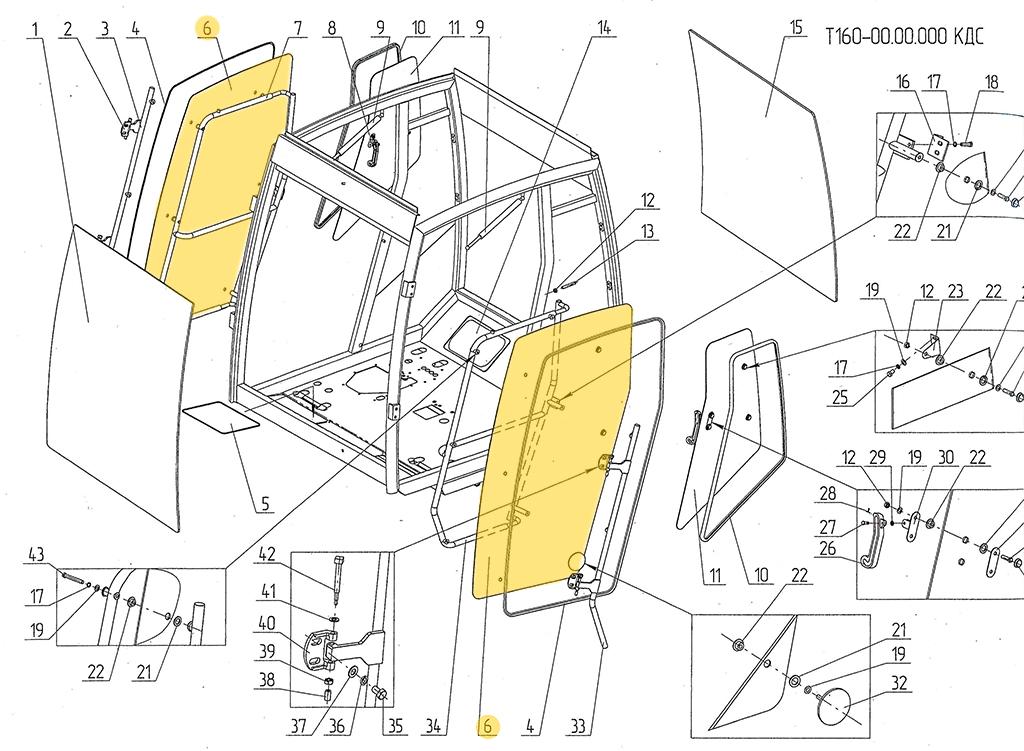 Стекло боковое Т160-67.06.101