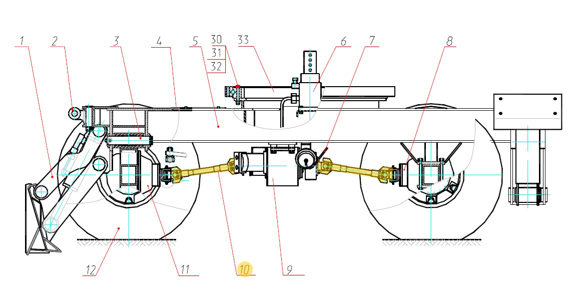 Вал карданный 695Е-2201010-40