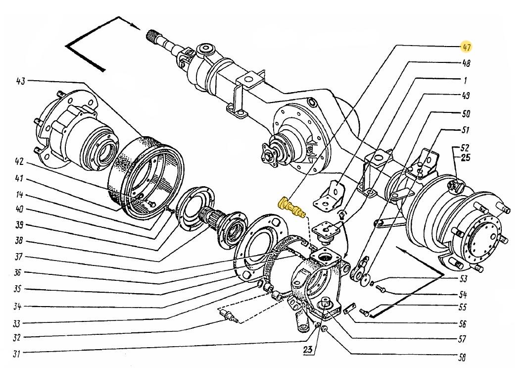 Кулак тормозной правый ЭО-3323.20.30.022