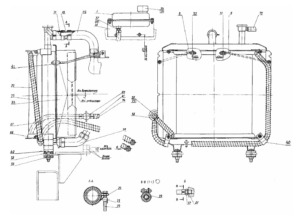 Радиатор водяной 314-02-1301010