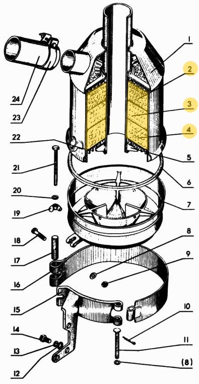 Фильтр воздушный 240-1109167/66/65