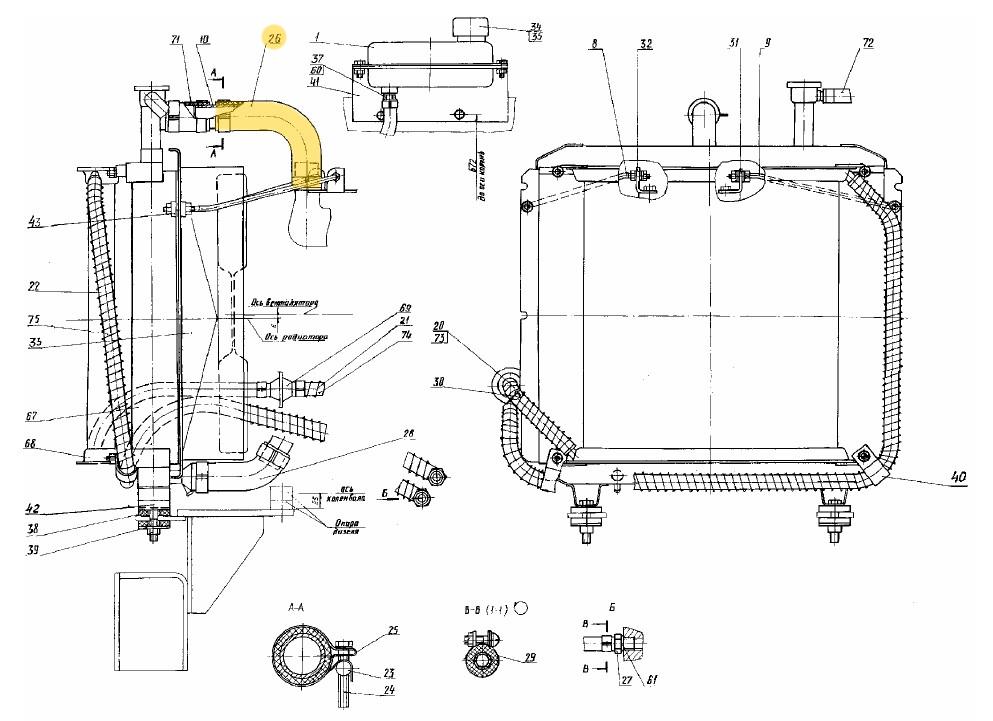 Шланг радиатора ЭО-3323.04.04.002