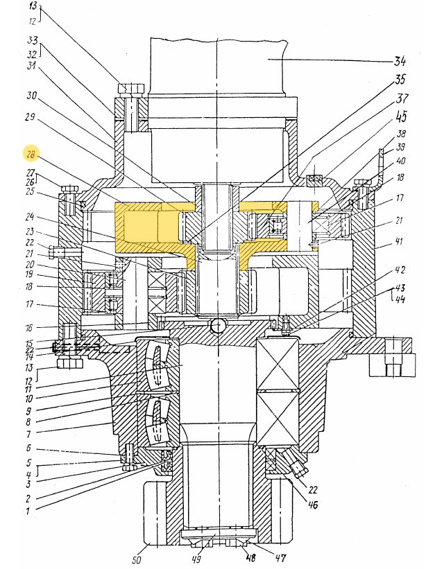 Водило ЭО-3322Б.03.30.004 (корпус)