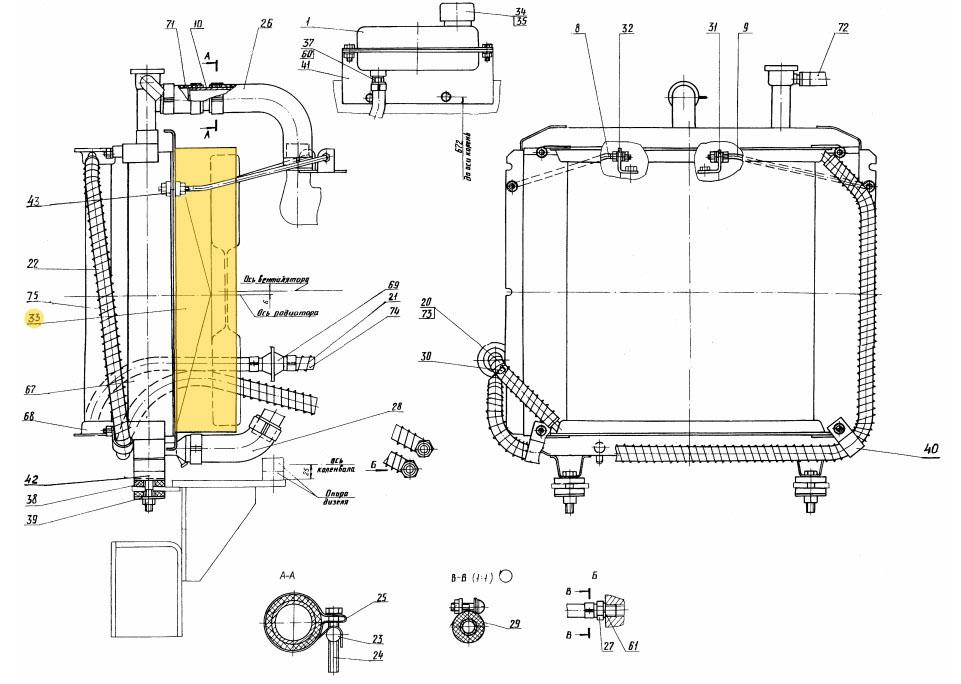 Диффузор водяного радиатора 13.04.20.001