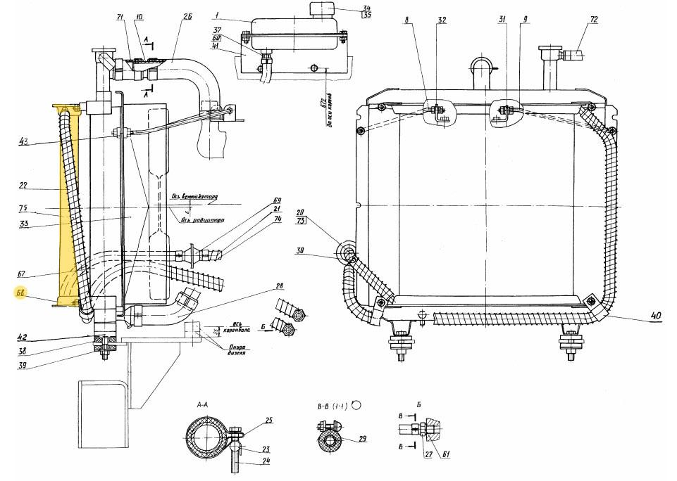 Радиатор масляный РМ100-1013030