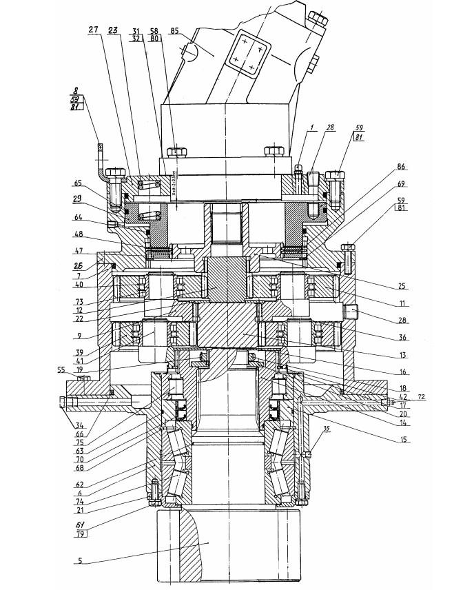 Механизм поворота 225-01-07.00.000