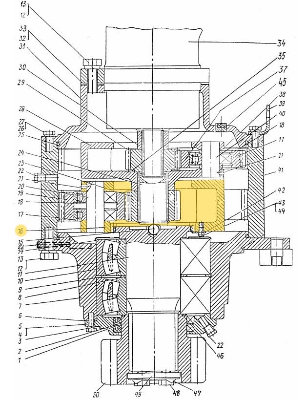Водило ЭО-3322Б.03.30.005 (корпус)