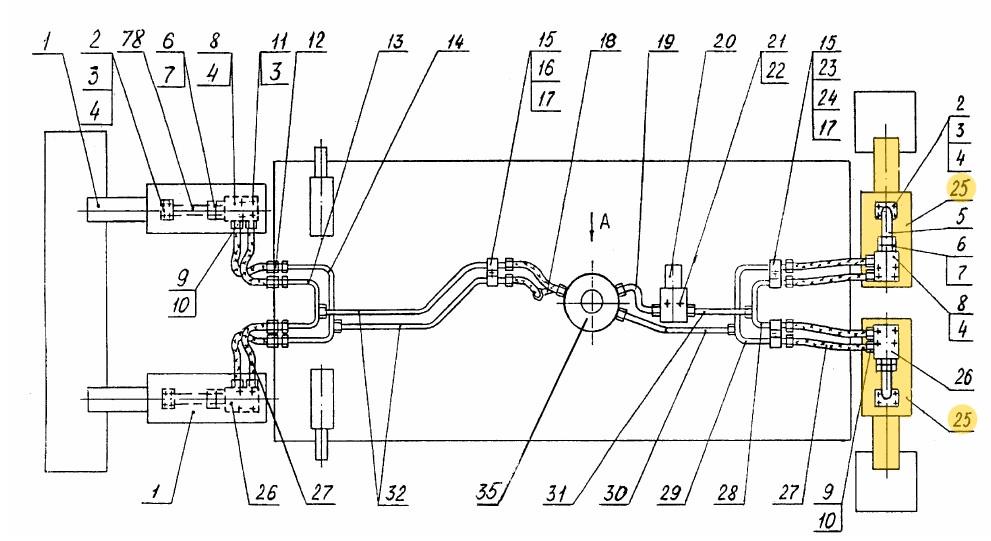 Гидроцилиндр опоры ЭО-3323А.71.82.000