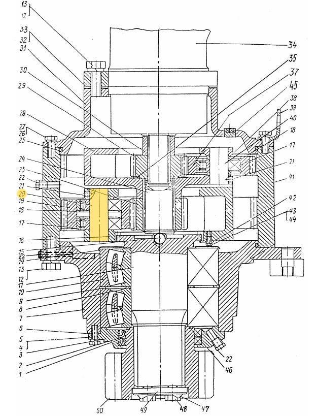 Ось сателлита ЭО-3322Б.03.30.012