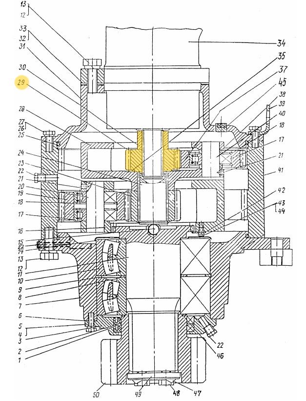 Шестерня солнечная ЭО-3322Б.03.30.029