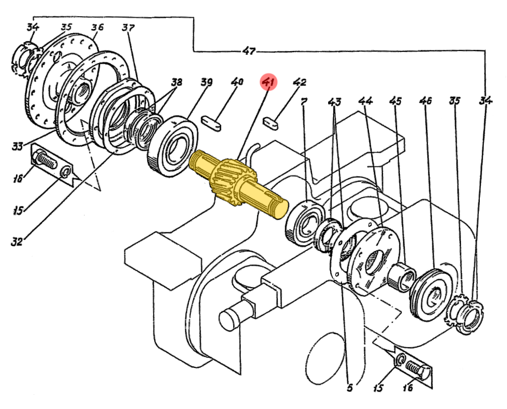 Вал-шестерня ЭО-5221.11.08.101