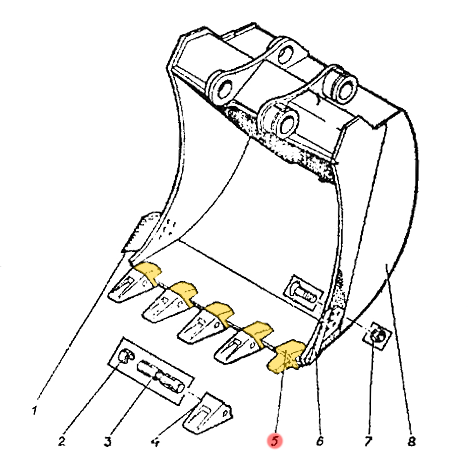 Адаптер ковша ЭО-5225