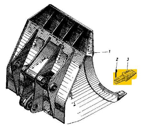 Зуб ковша 113-5а-12б