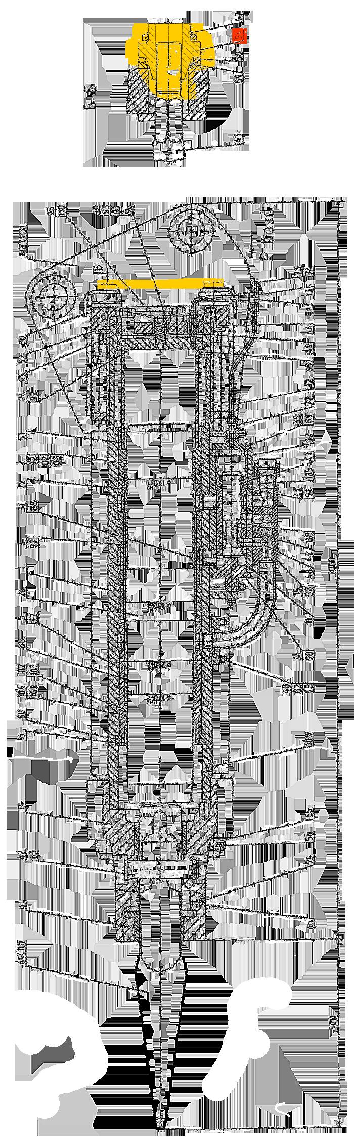 Гайка натяжная СП-71А.022.1.063 гидромолота МГ-300