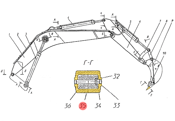 Коронка ковша ЭО-33211