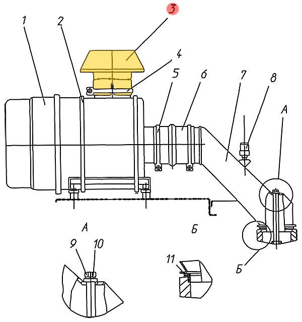 Зонт защитный ЭО-33211