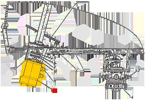Рулевая колонка с педалью тормоза и тормозным краном