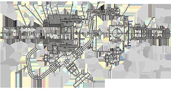 Гидроцилиндр поворота Э20.80.022сб-1