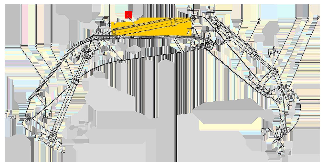 Гидроцилиндр рукояти 12.208.0.000-1