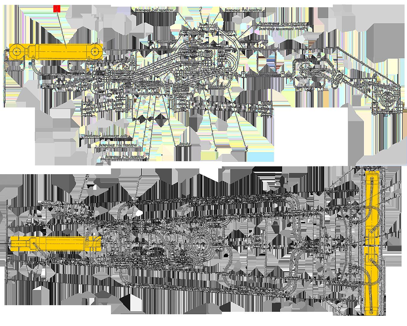 Гидроцилиндр опор и отвала ЭО-33211