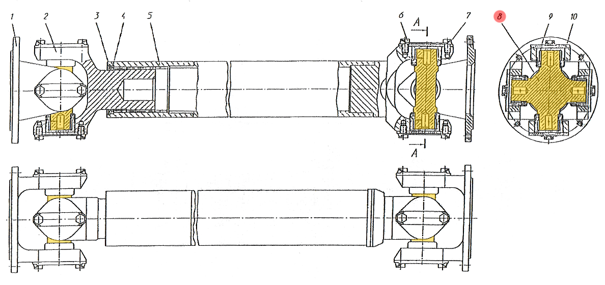 подшипник карданного вала мерседес спринтер