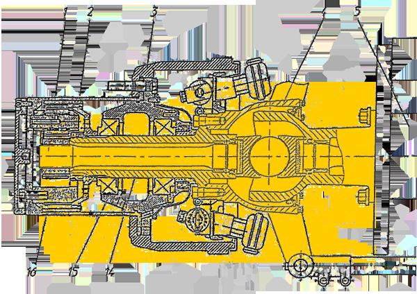 Кулак поворотный левый Э20.01.04.002сб-1