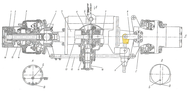 Проушина гидроцилиндра поворота ЭО-33211