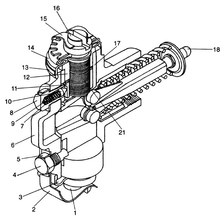 Разжимной механизм правый Э20.01.04.052сб-01
