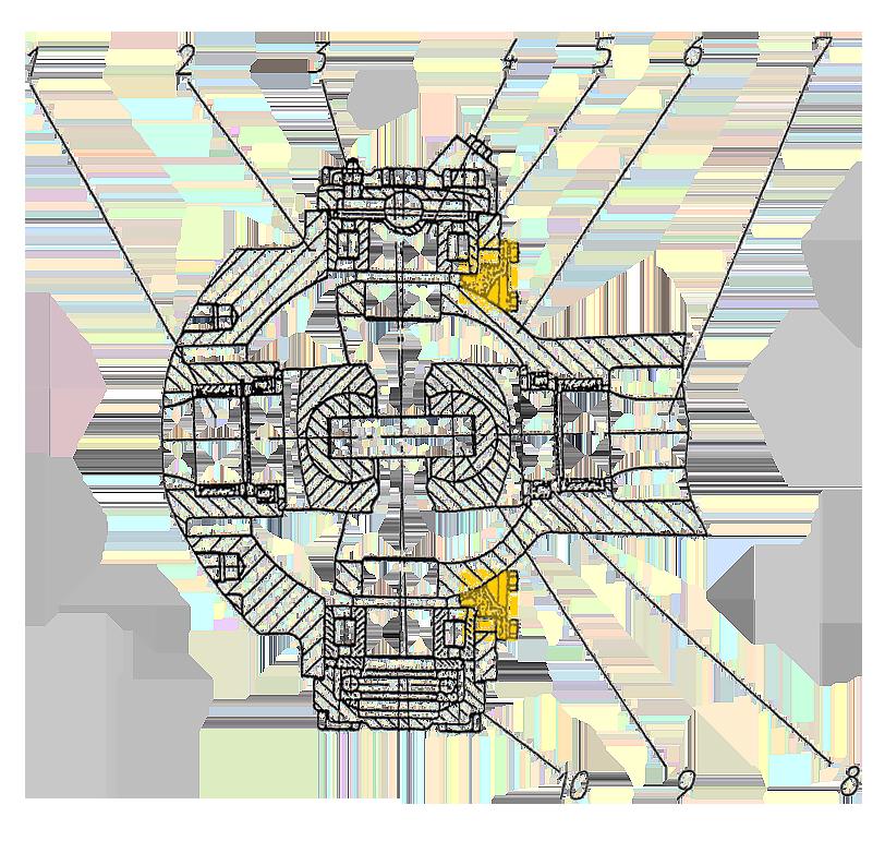 Уплотнение поворотного кулака ЭО-33211