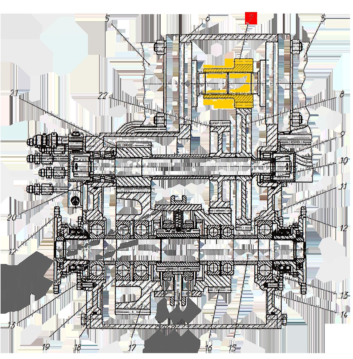 Шестерня Э20.01.02.080 коробки передач ЭО-33211