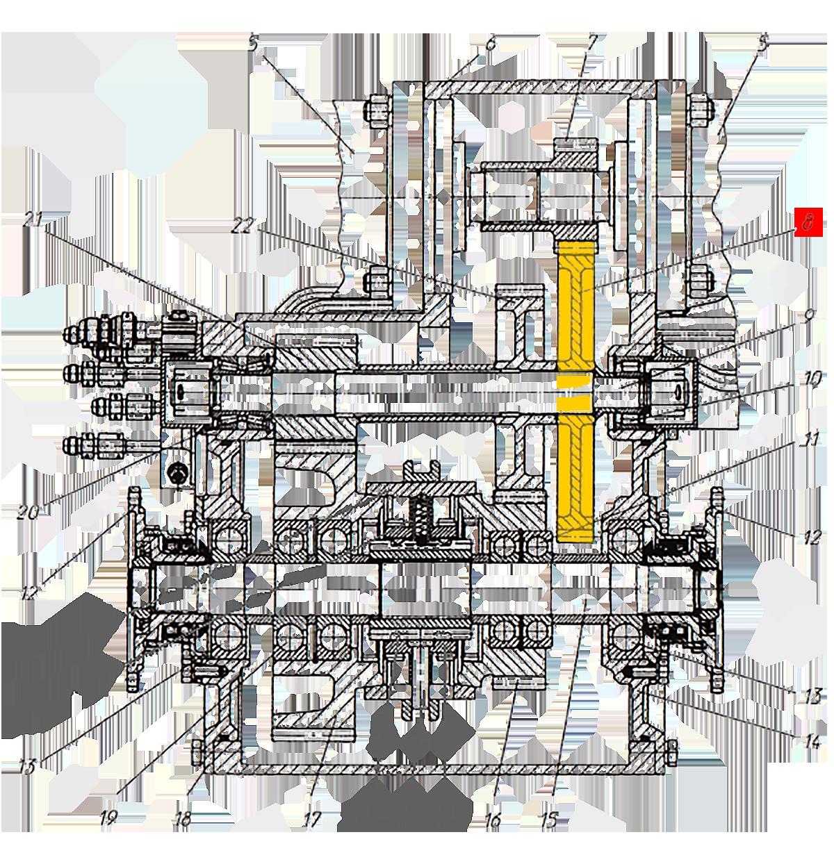 Шестерня Э20.01.02.081 коробки передач ЭО-33211
