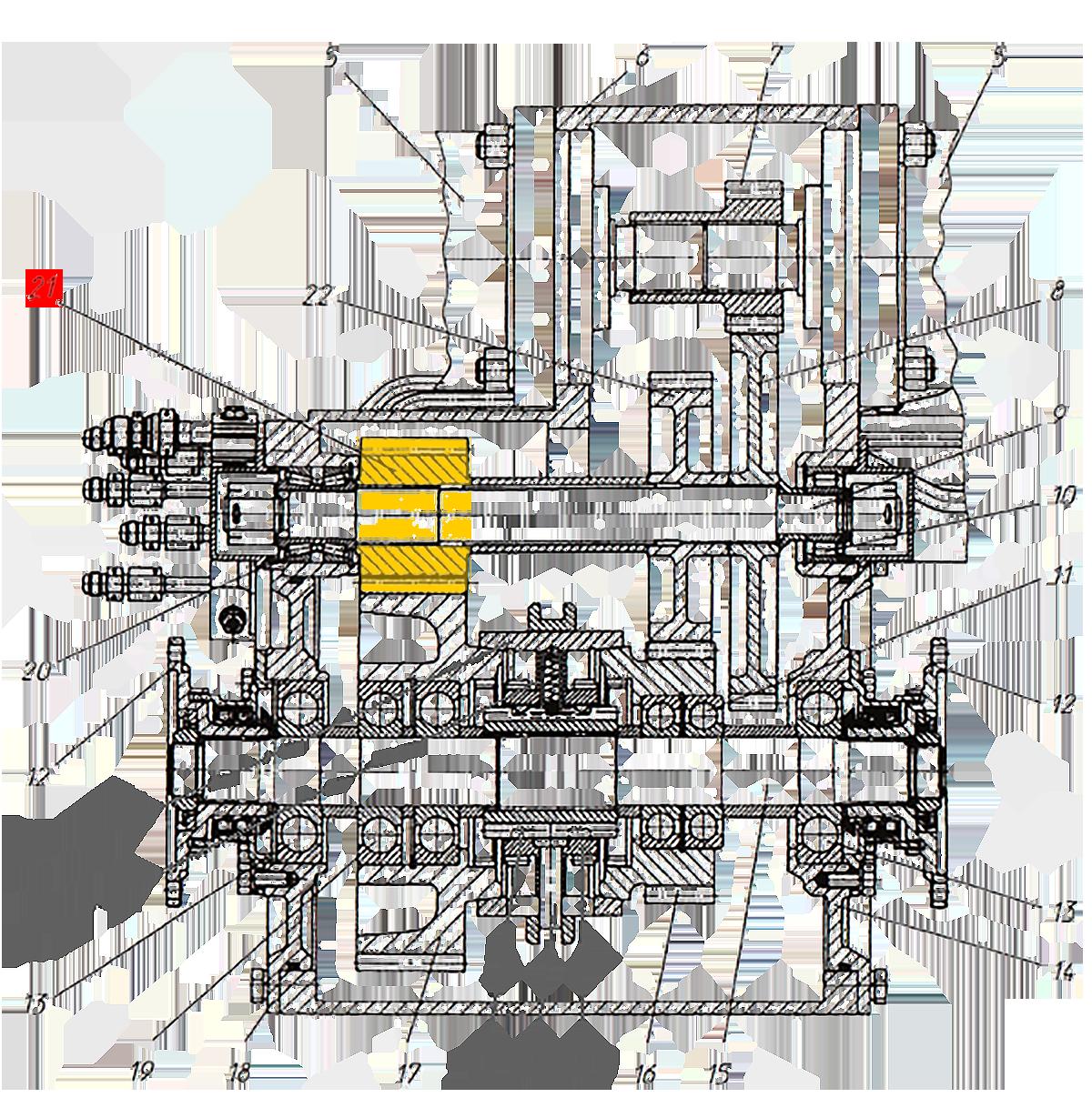 Шестерня Э20.01.02.082 коробки передач ЭО-33211