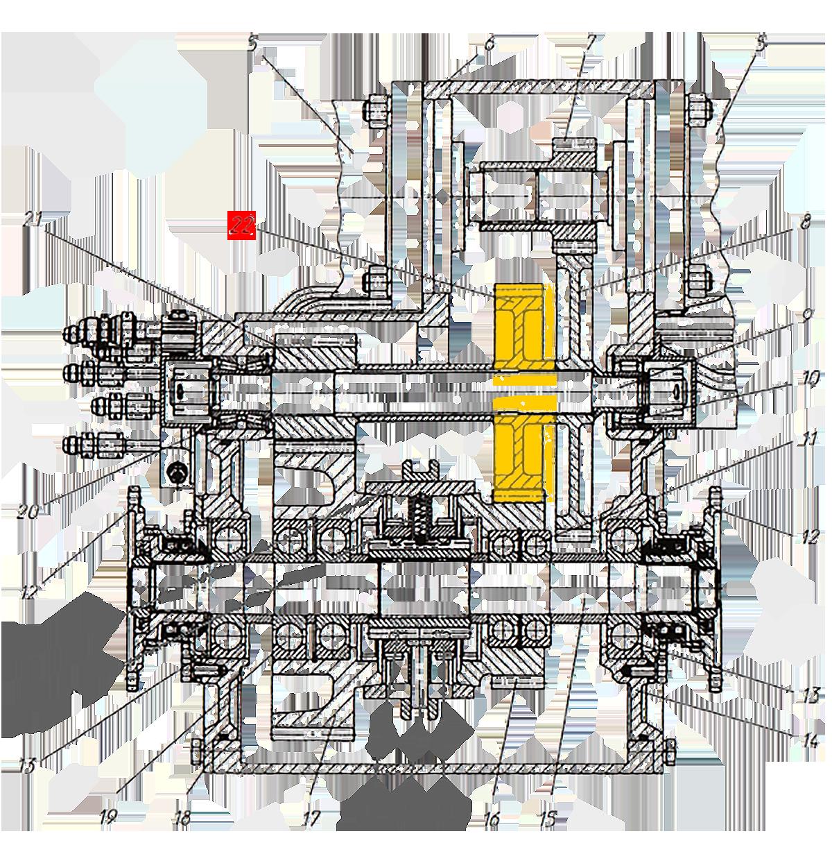 Шестерня Э20.01.02.084 коробки передач ЭО-33211