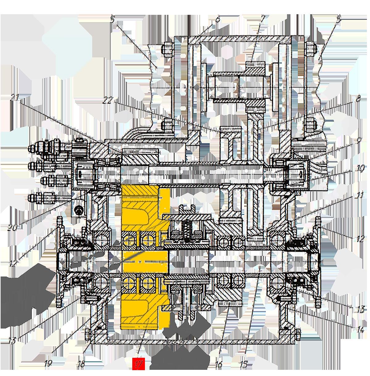 Шестерня Э20.01.02.083 коробки передач ЭО-33211