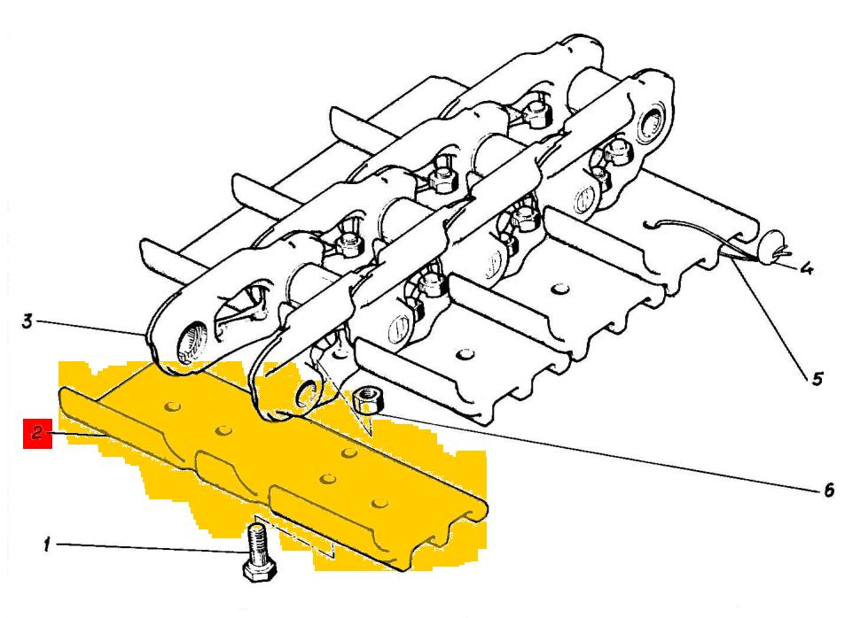 Трак гусеницы ЭО-5126