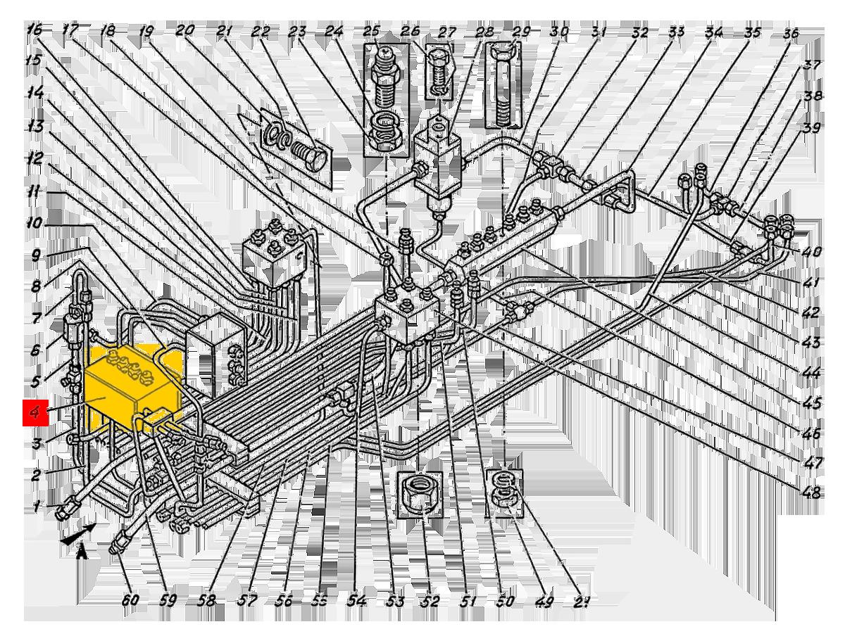 Блок золотников ЭО-5122А.04.23.000-1сб