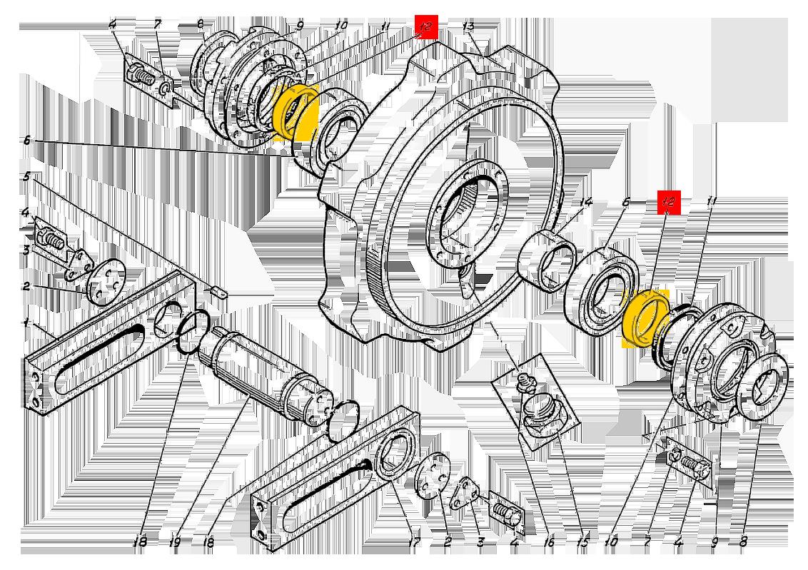 Втулка ЭО-5123.01.10.107-6 натяжного колеса