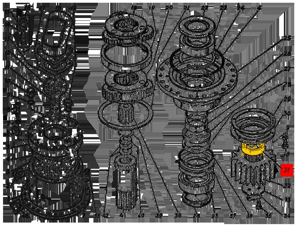 Втулка Э4.03.01.005сб редуктора поворота ЭО-5126