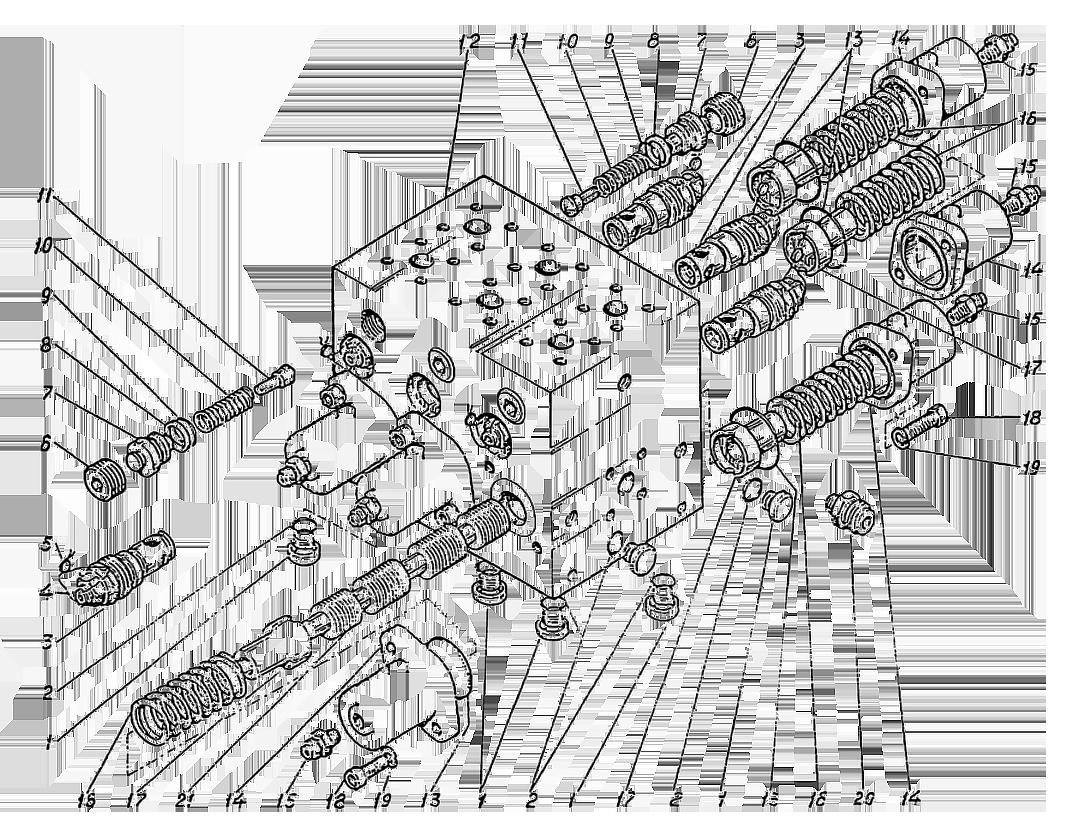 Гидроаппарат гидромоторов ЭО-5122.09.11.000-5сб
