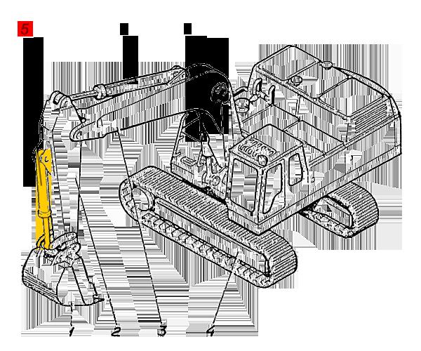 Гидроцилиндр ковша ЭО-5126.29.06.000сб