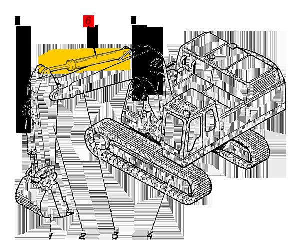 Гидроцилиндр рукояти ЭО-5126.29.08.0003сб (Э4.05.30.001сб-2)