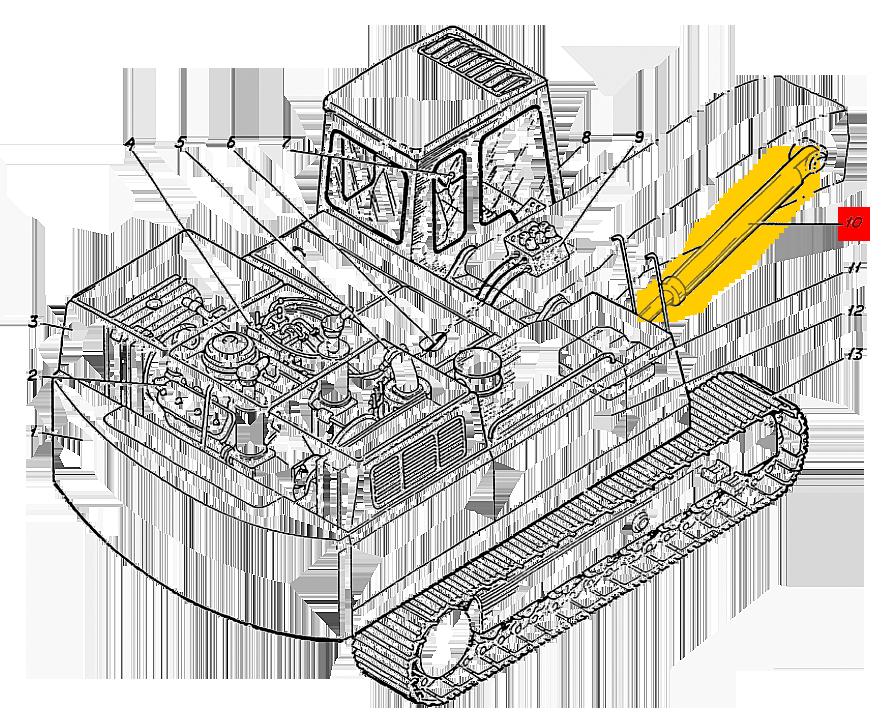 Гидроцилиндр Э4.05.30.001сб-1