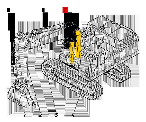 Гидроцилиндр стрелы ЭО-5221.29.06.000сб