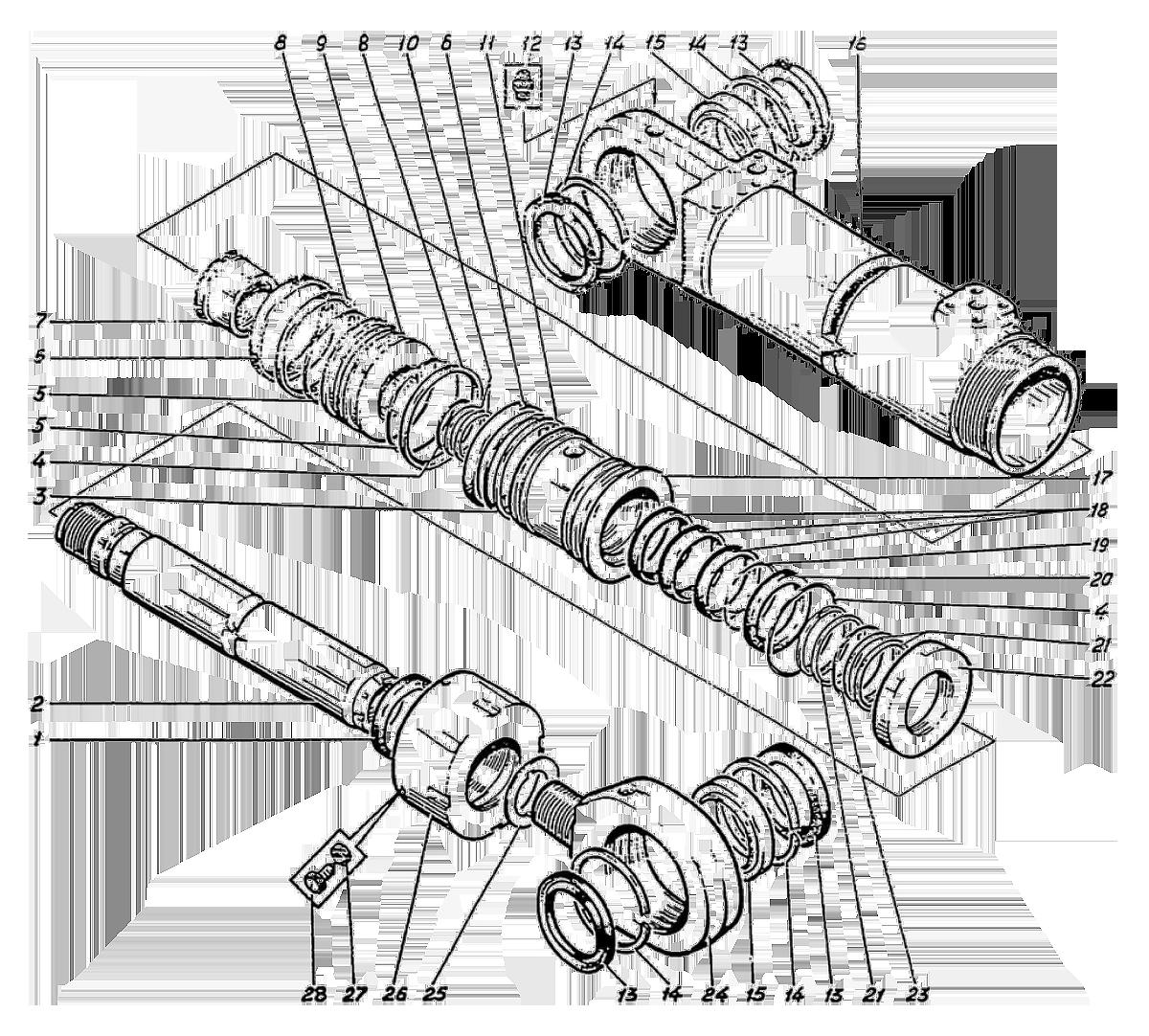Гидроцилиндр стрелы Э4.05.30.012сб