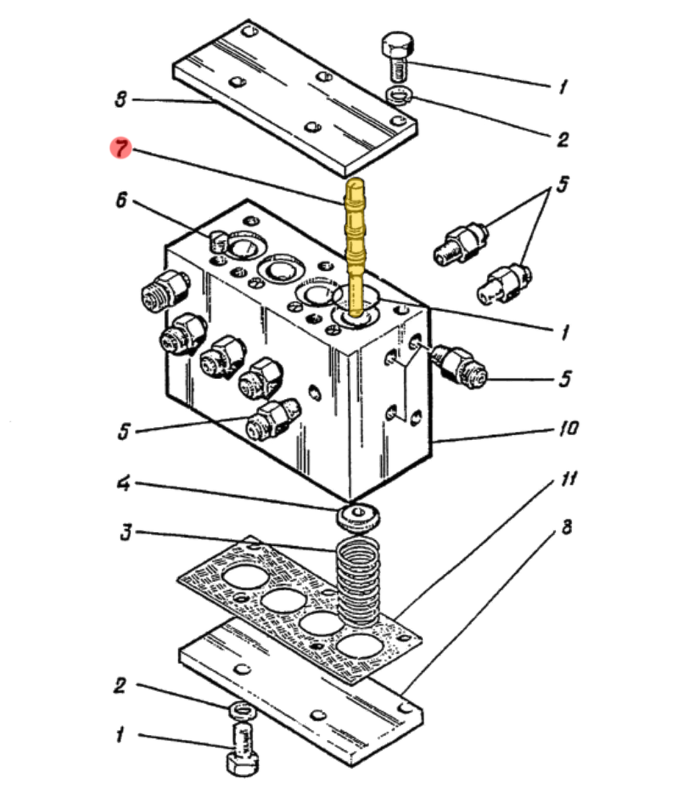 Золотник ЭО-5122А.04.23.005