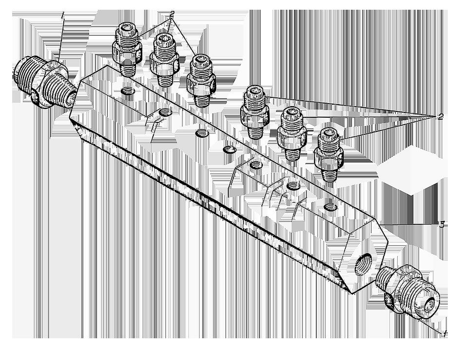 Коллектор в сборе Э4.04.17.054сб